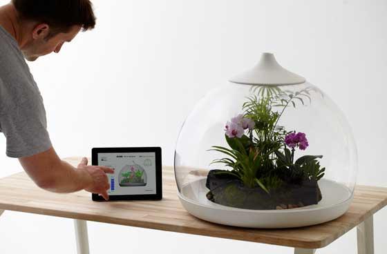 iPadom ovládané terárium