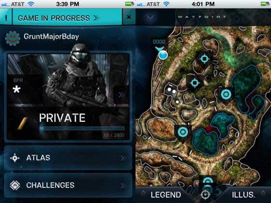Halo Waypoint na iOS