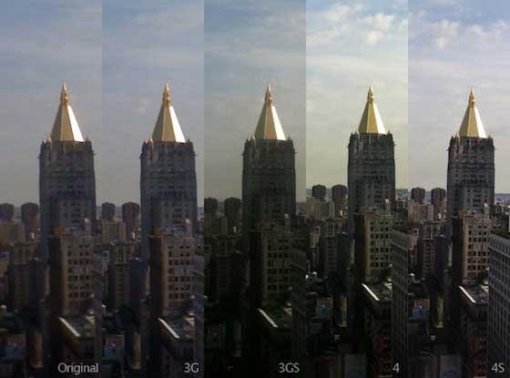 Porovnanie iPhone 4S fotoaparát