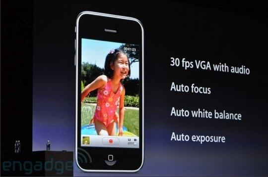 Fotoaparát iPhone 3GS