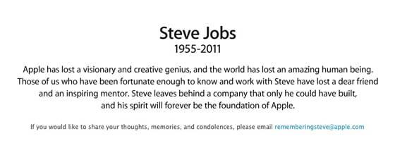 Steve Jobs zomrel