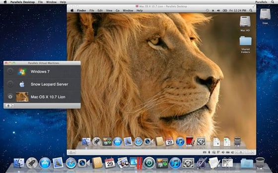 OS X Lion v Parallels Desktop 7
