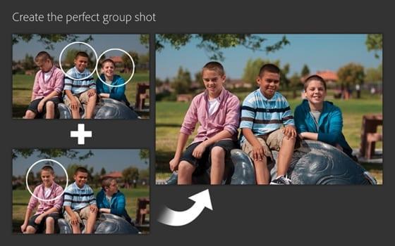 Adobe Photoshop Elements 9 – kombinovanie spoločných fotiek