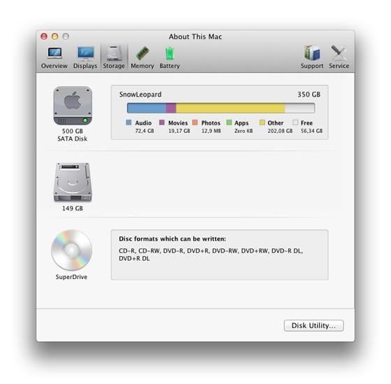 System Information Storage