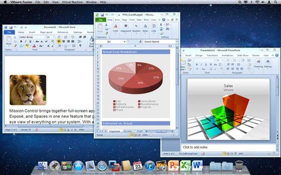VMware Fusion 4 – režim Unity