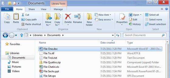 Windows Explorer vo Windows 8
