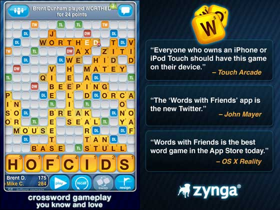 Words with Friends iPhone