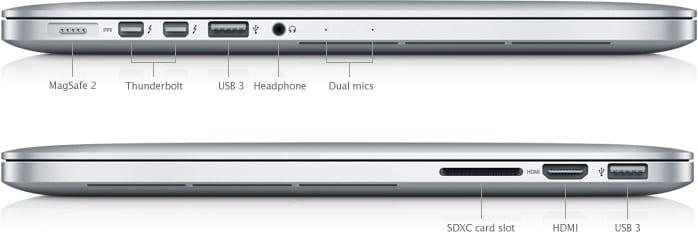 SP653 MBP retina ports 001 en - MacBook Pro z roku 2015 sa už dopredáva, v ponuke ostávajú len modely s USB-C portami